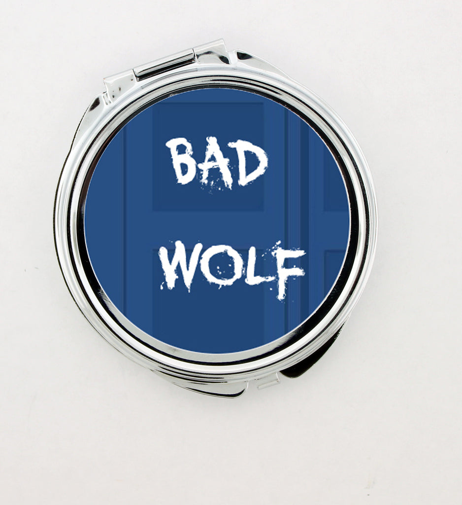 """Bad Wolf"" Foldable Hand Mirror"