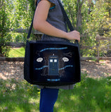 """Wholocked the Police Box"" Laptop Bag - Consulting Fangeeks - 1"