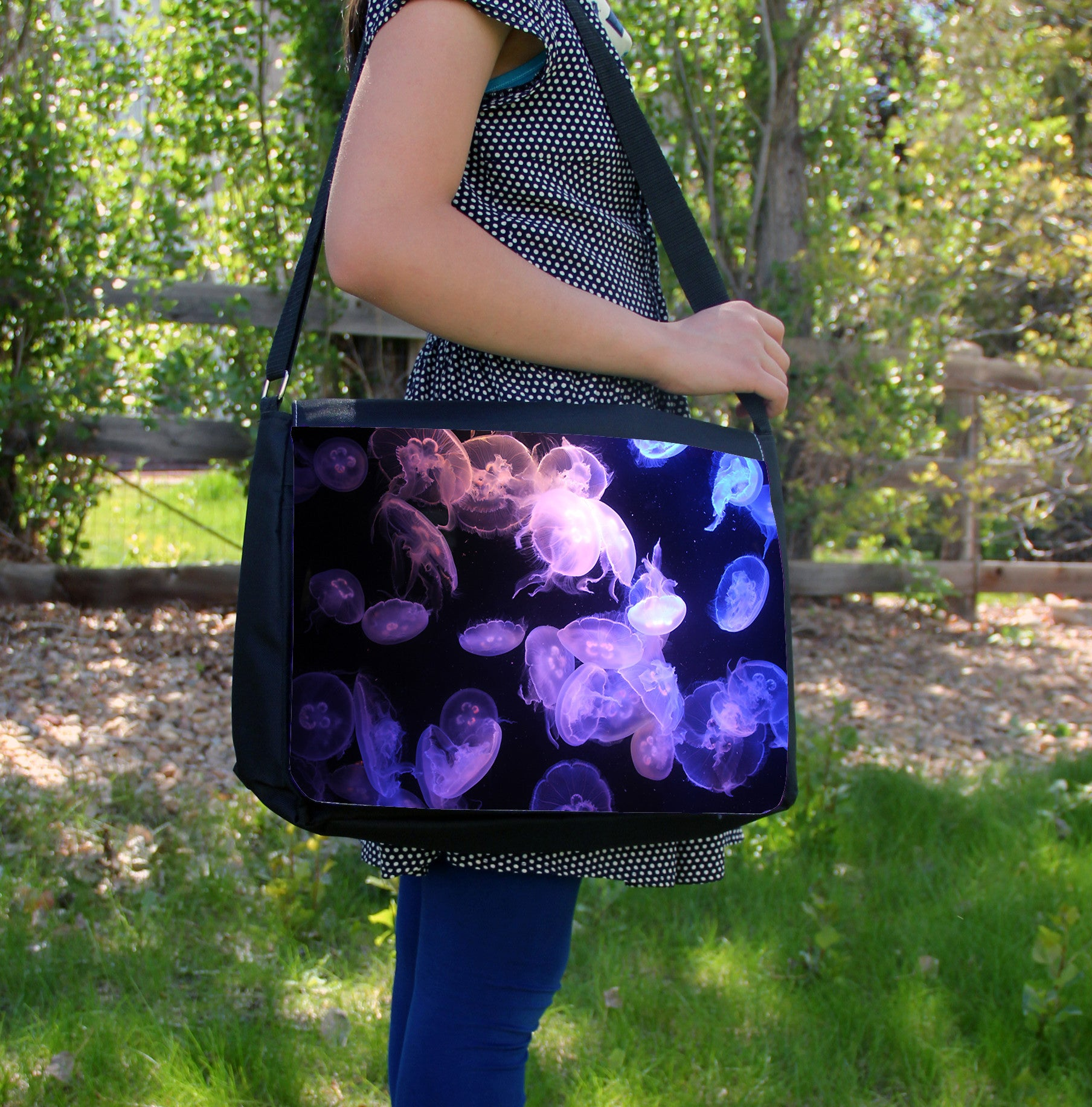 """Purple Moon Jellyfish"" Laptop Bag - Consulting Fangeeks - 1"