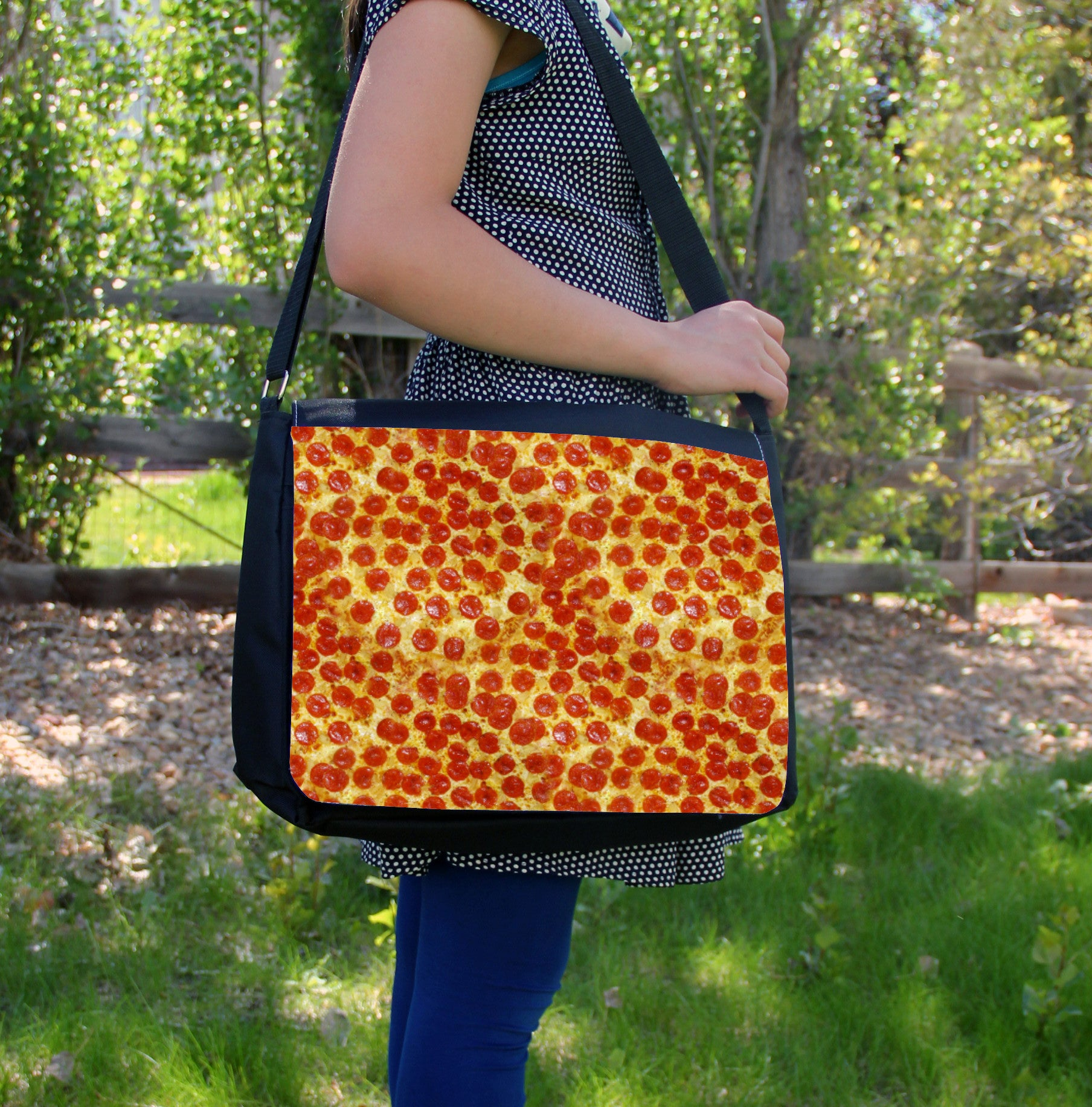 """Pepperoni Pizza"" Laptop Bag - Consulting Fangeeks - 1"