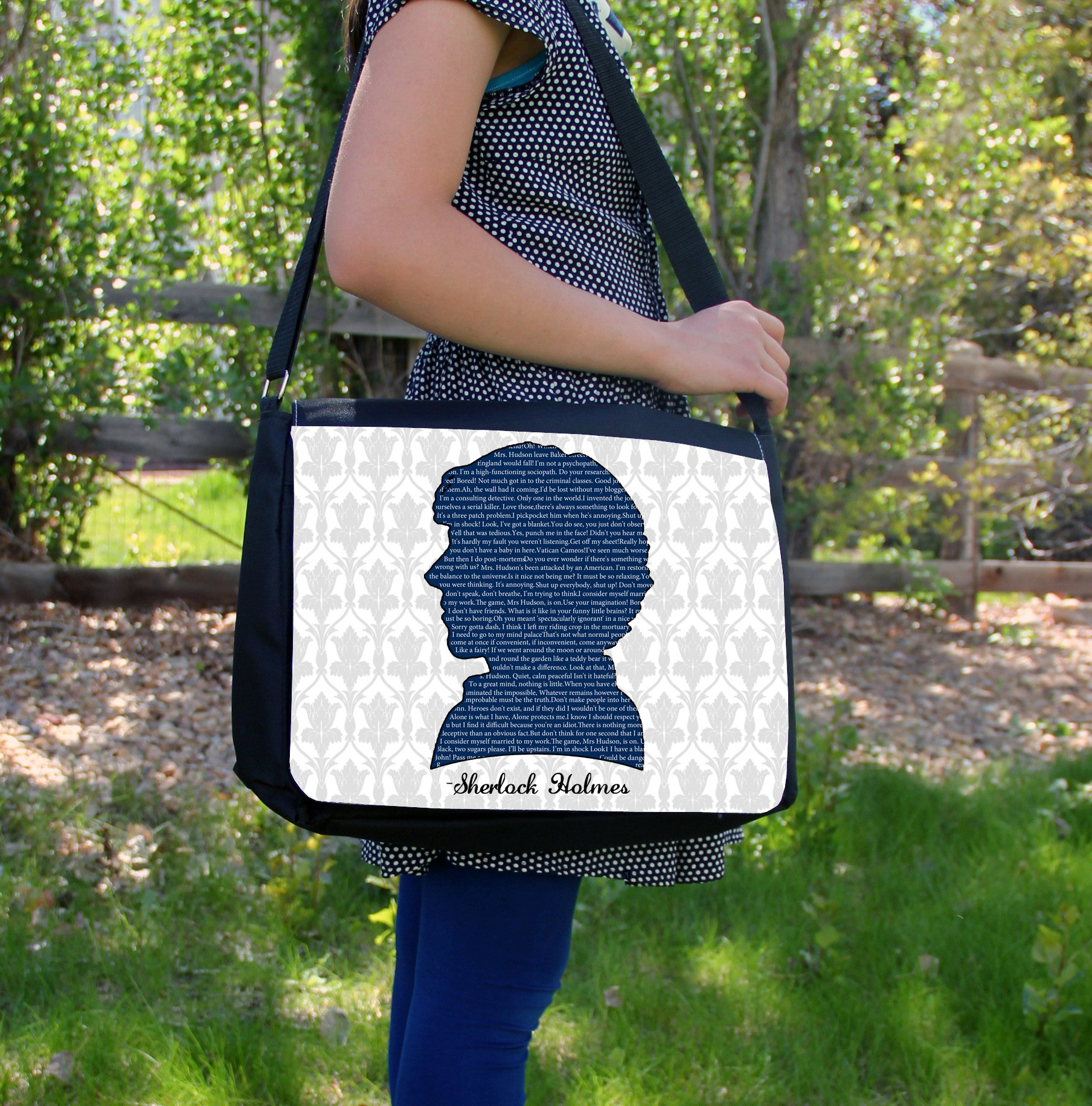 """Sherlock Quotes"" Laptop Bag - Consulting Fangeeks - 1"