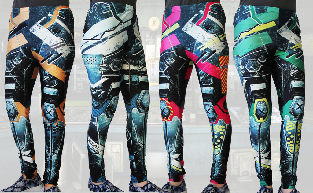 Animated Metal Armour Stretchy Geek Leggings