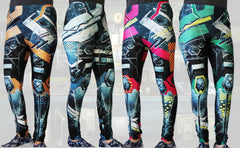 Animated Metal Armour Stretchy Geek Leggings - Consulting Fangeeks - 1