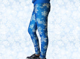 Frozen Snowflake Stretchy Geek Leggings - Consulting Fangeeks - 3