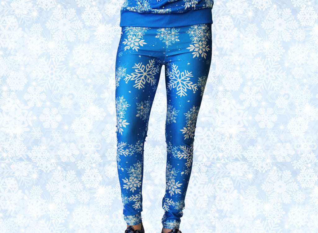 Frozen Snowflake Stretchy Geek Leggings