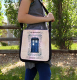 Police Box Grunge Messenger Bag - Consulting Fangeeks - 3