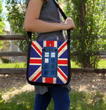 Police Box in London Messenger Bag - Consulting Fangeeks - 3