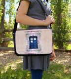 Police Box Grunge Messenger Bag - Consulting Fangeeks - 2