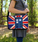 Police Box in London Messenger Bag - Consulting Fangeeks - 2