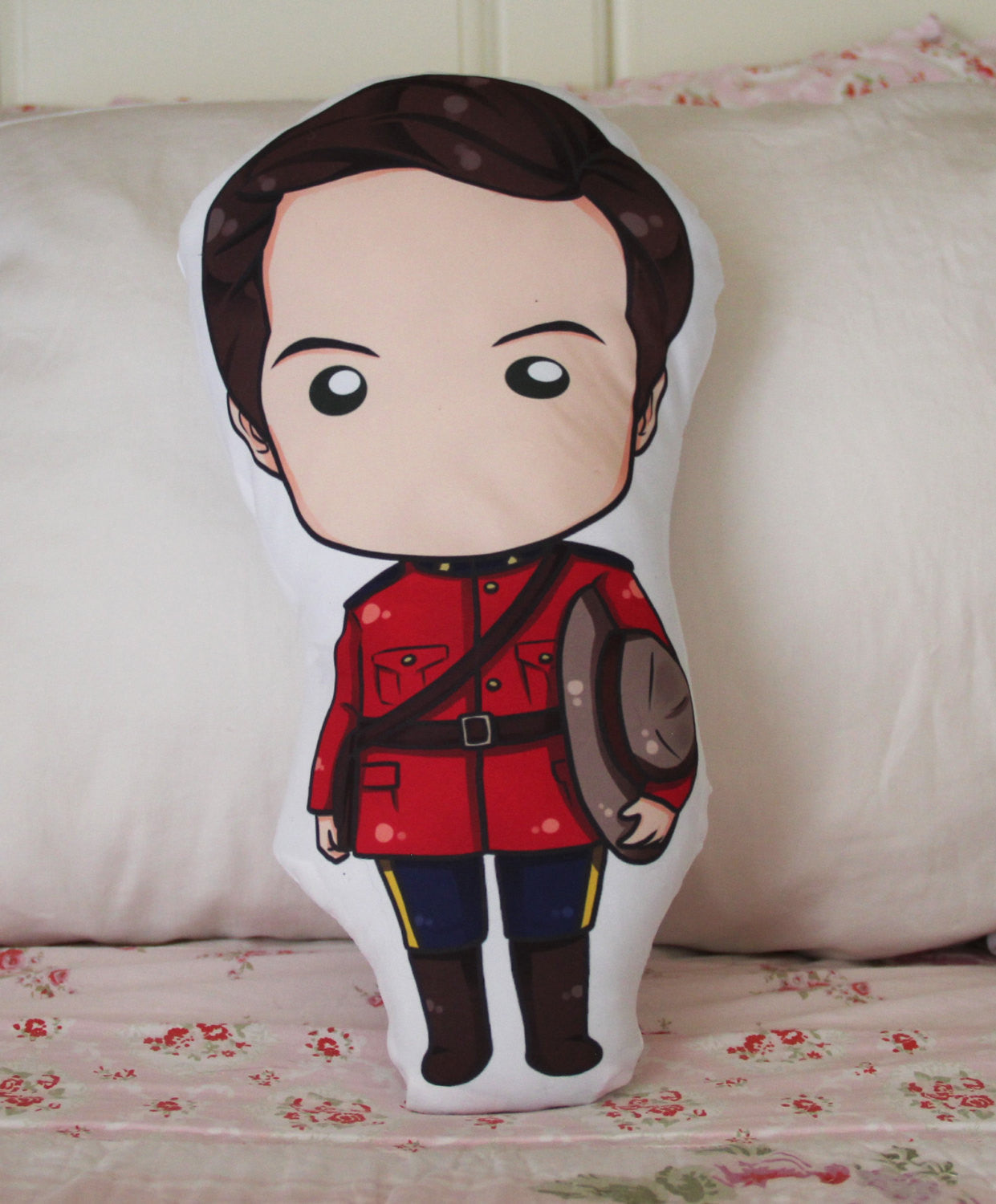 "Mountie Jack Thornton Chibi Fan Pillow 14"" - Consulting Fangeeks - 1"