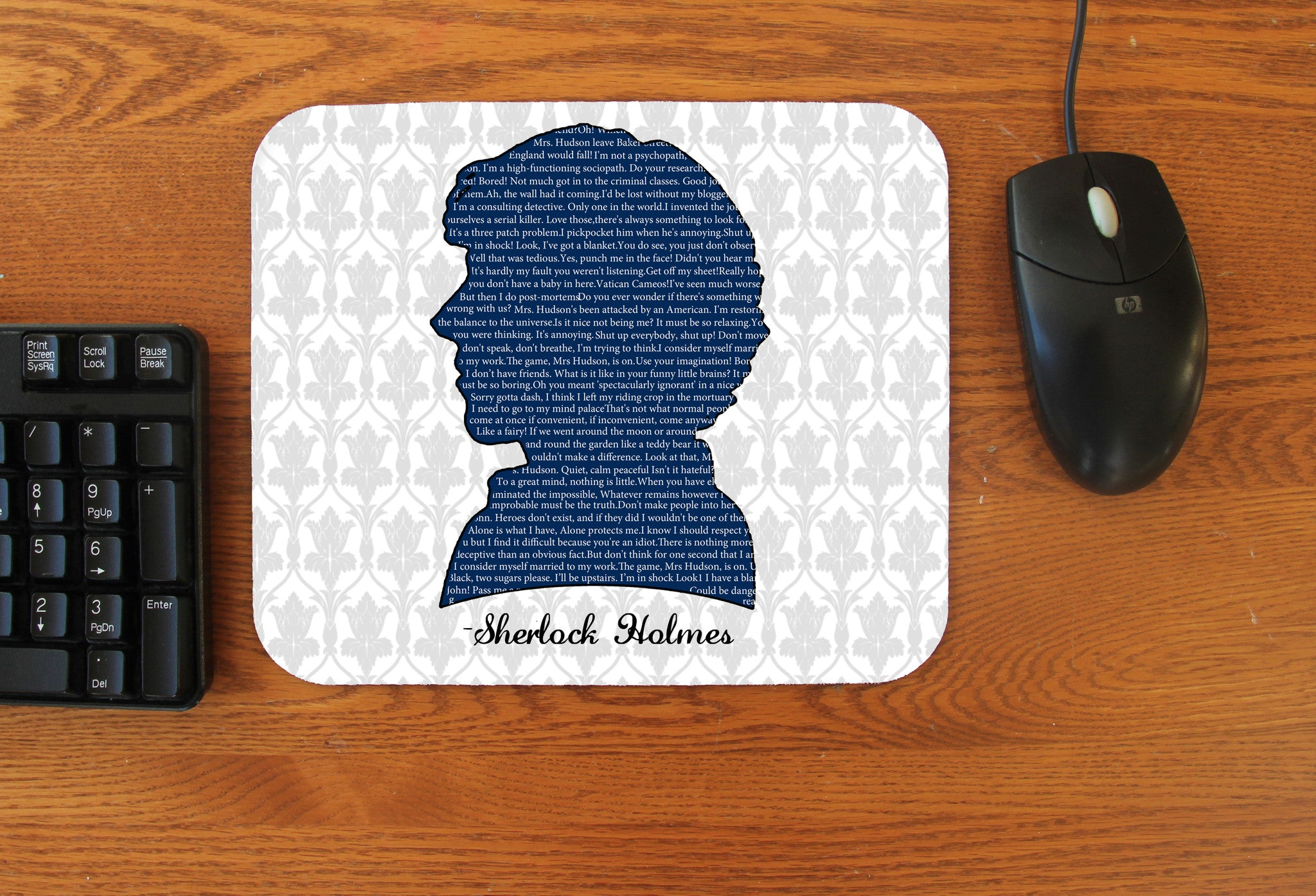 """Sherlock Quotes"" Mousepad - Consulting Fangeeks"