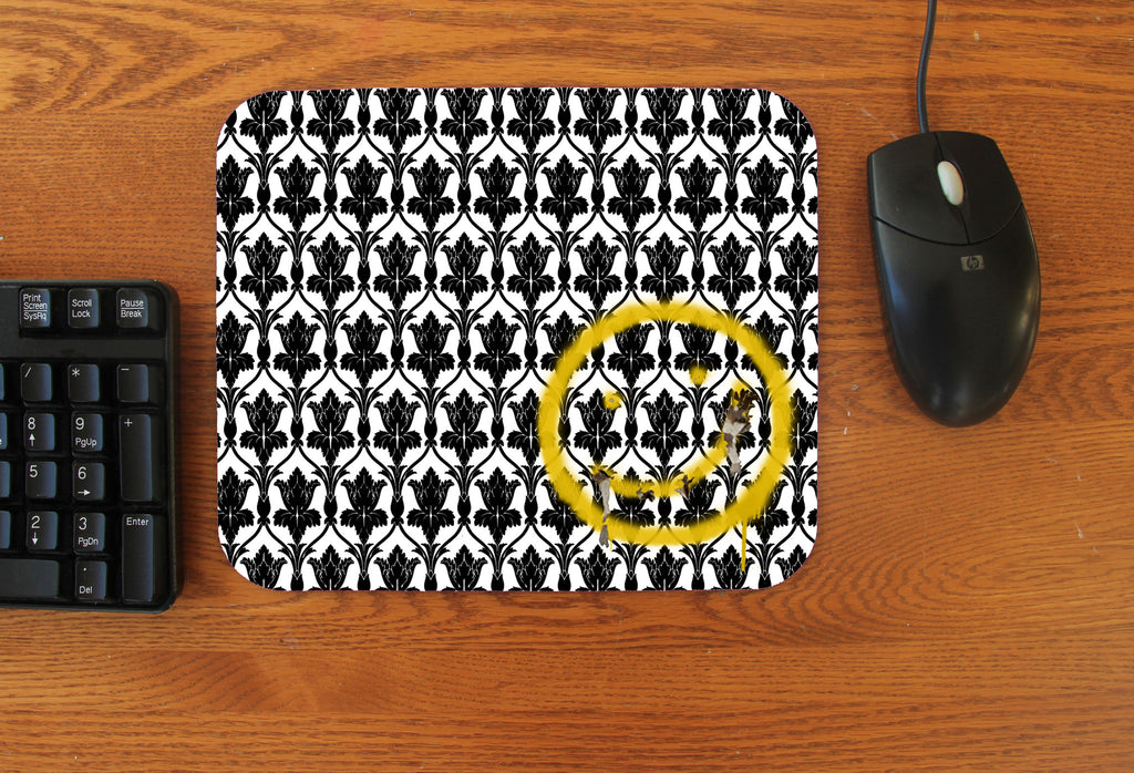 """Bored! Smiley"" Mousepad"