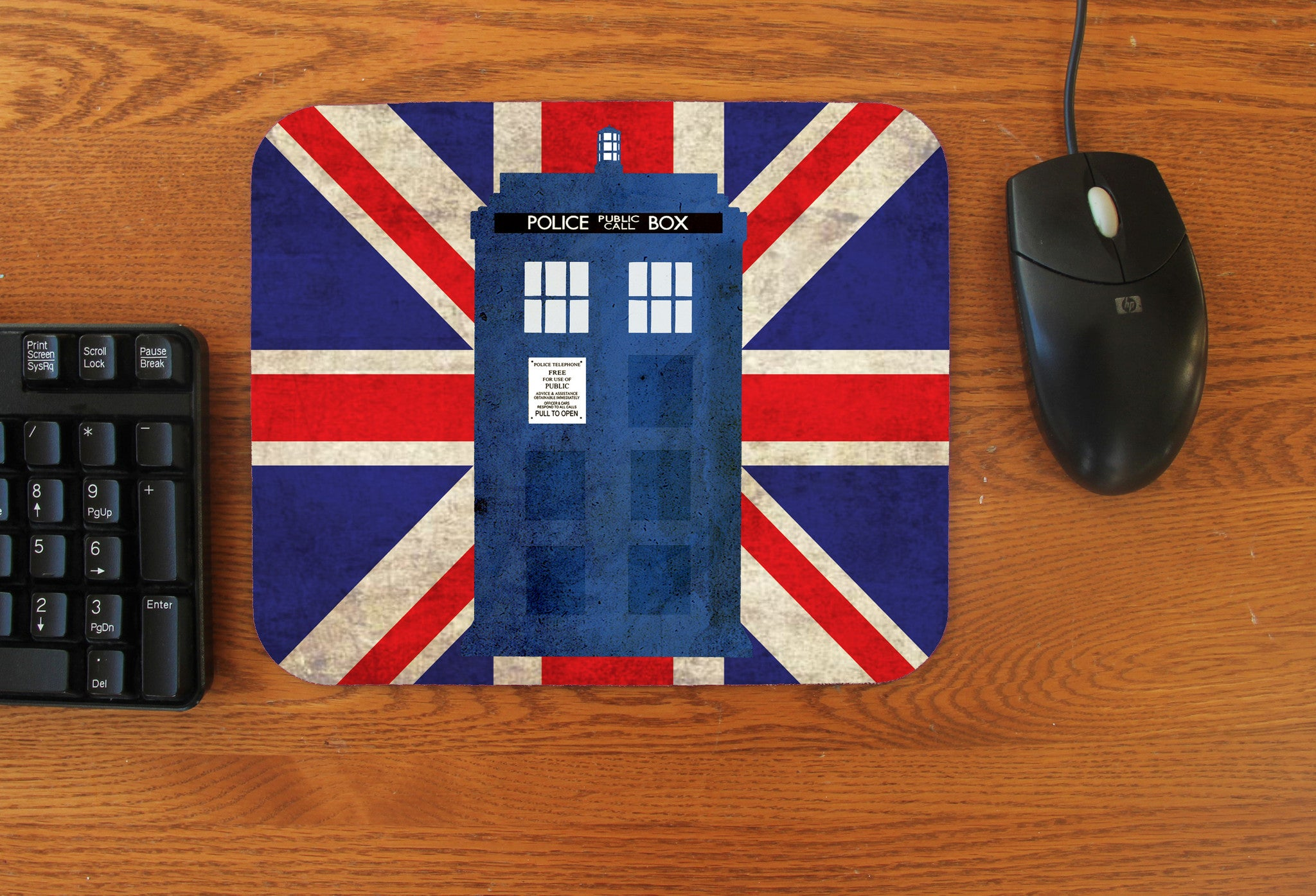 """Police Box in London"" Mousepad - Consulting Fangeeks"