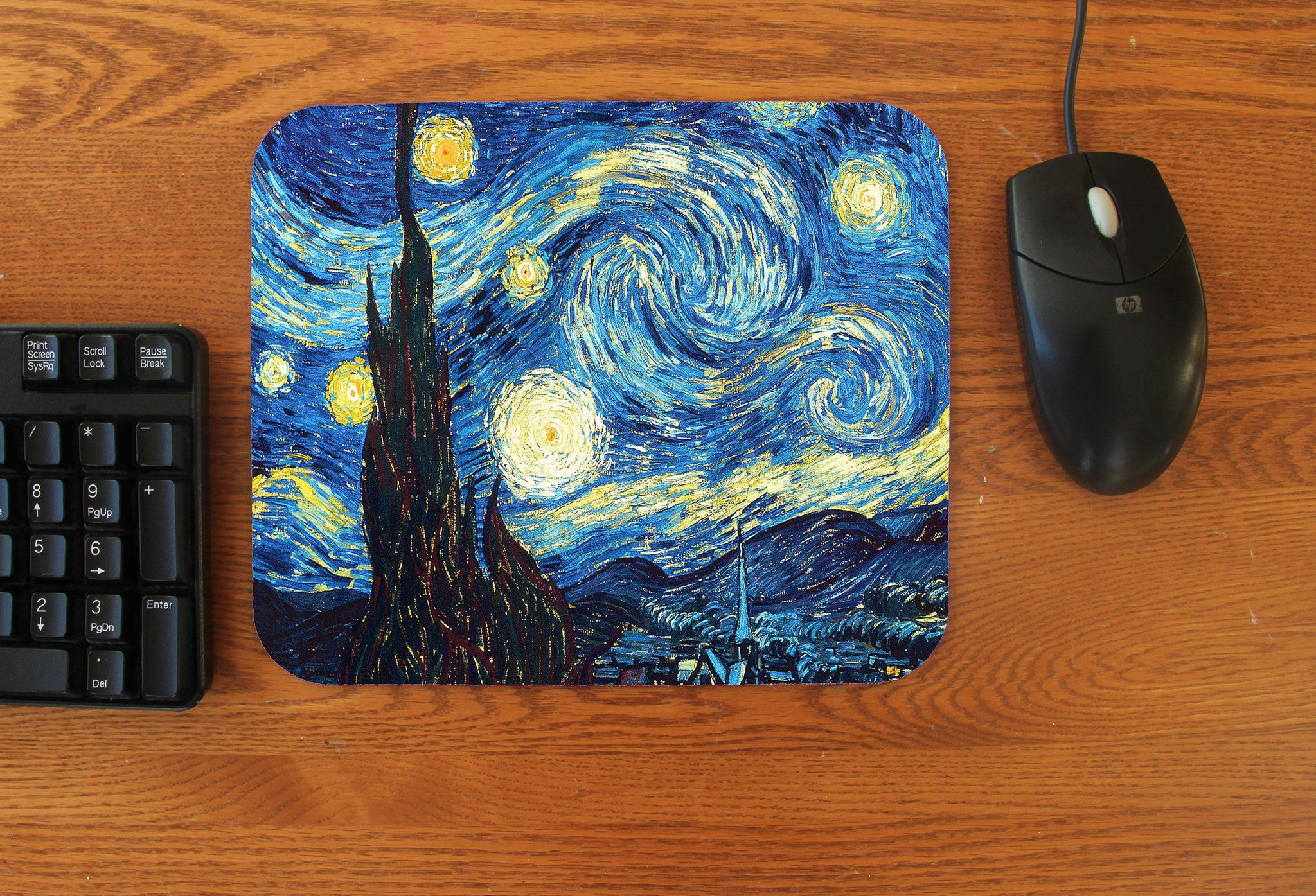 """Starry Night"" Vincent Van Gogh Mousepad - Consulting Fangeeks"