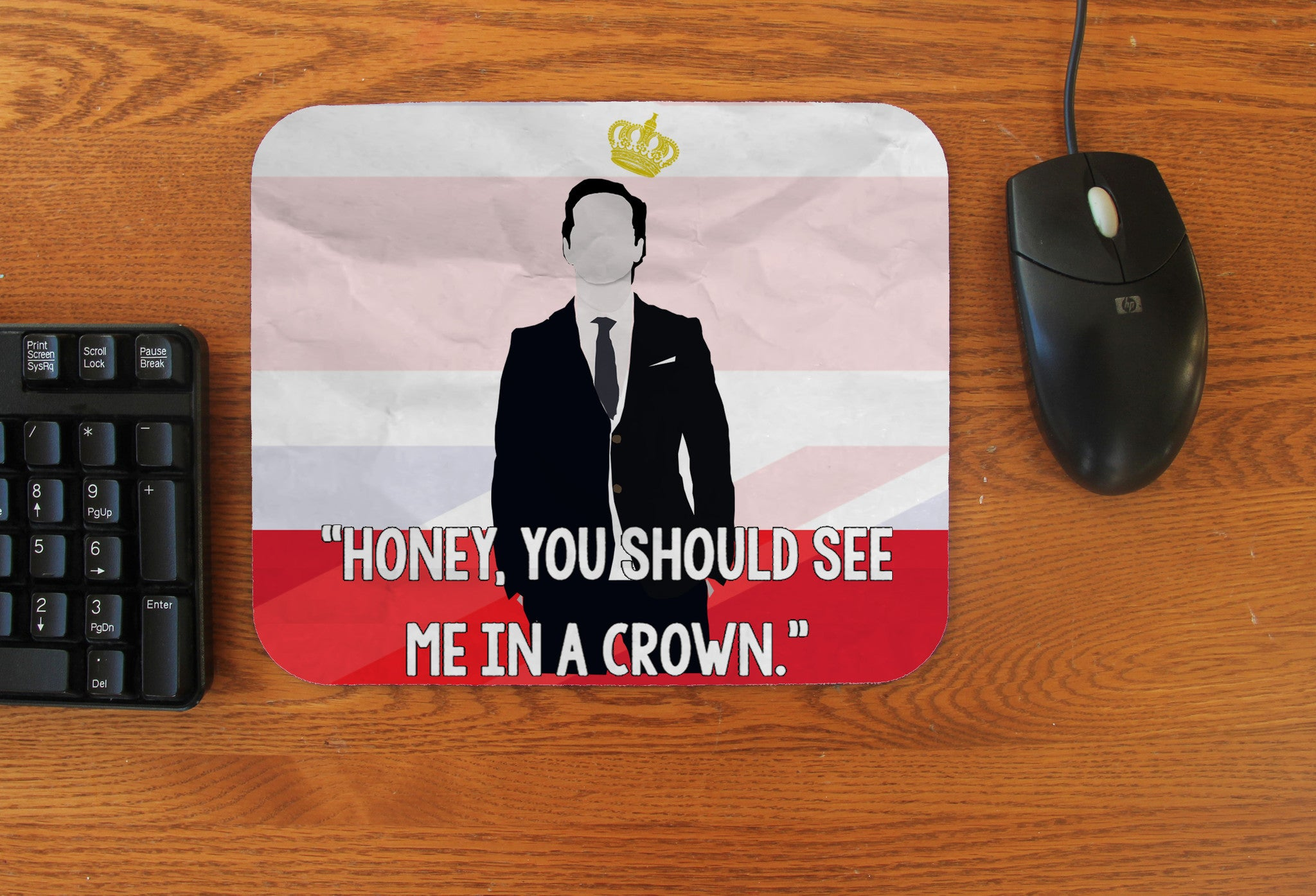 """See Me in a Crown"" Mousepad - Consulting Fangeeks"