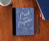 """Pride & Prejudice"" Book Cover Faux Suede Notebook 3 Sizes! - Consulting Fangeeks - 1"