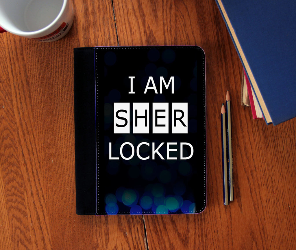 """I Am Sherlocked"" Faux Suede Notebook 3 Sizes!"