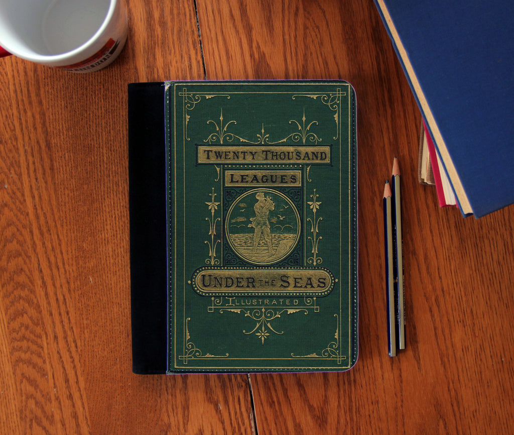 20,000 Leagues Under the Sea Book Cover Faux Suede Notebook 3 Sizes!
