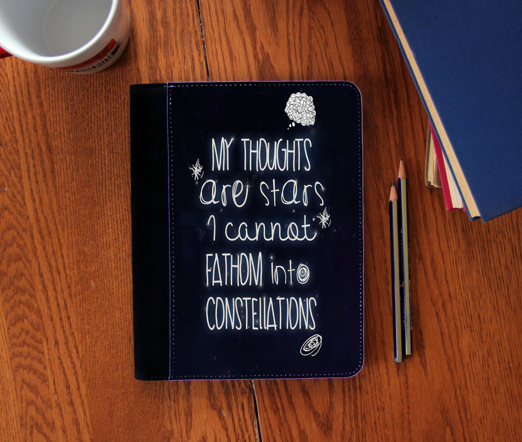 """My Thoughts"" Faux Suede Notebook 3 Sizes!"