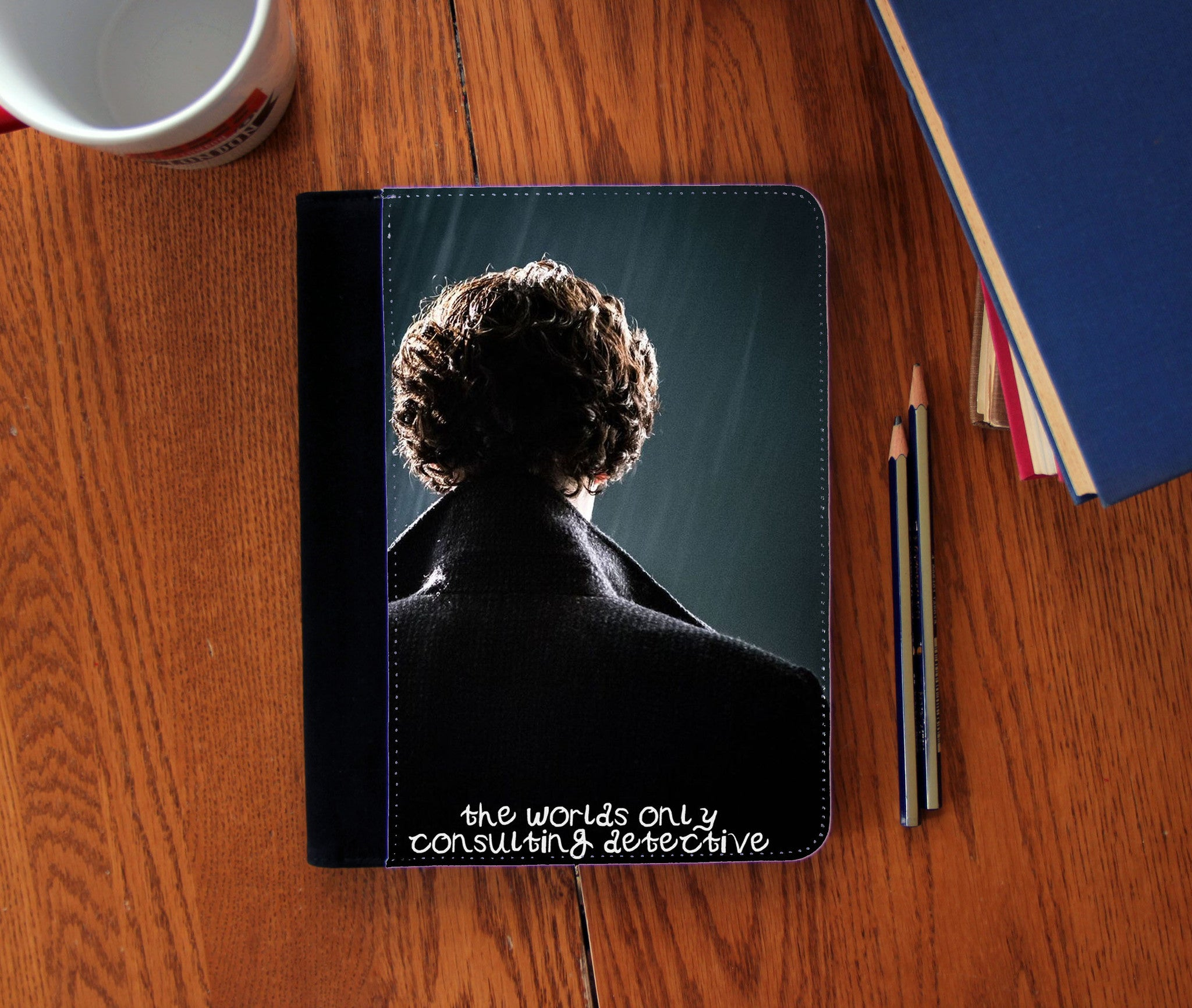 """Consulting Detective"" Faux Suede Notebook 3 Sizes! - Consulting Fangeeks - 1"