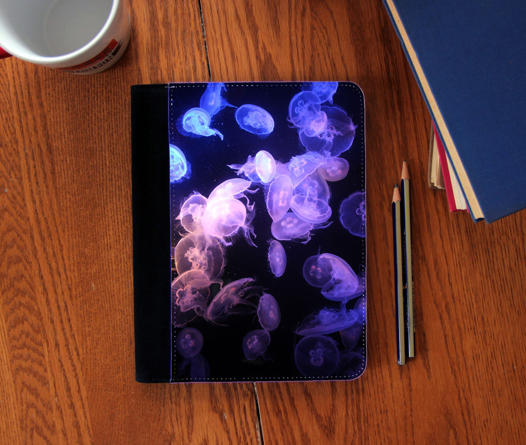 """Moon Jellyfish"" Faux Suede Notebook 3 Sizes!"