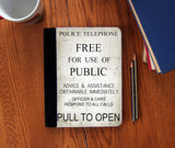 """Pull To Open"" Faux Suede Notebook 3 Sizes! - Consulting Fangeeks - 1"