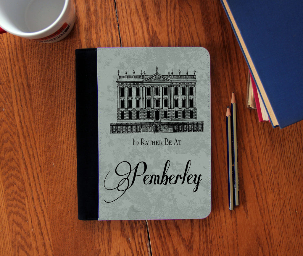 """I'd Rather be at Pemberley""  Faux Suede Notebook 3 Sizes!"