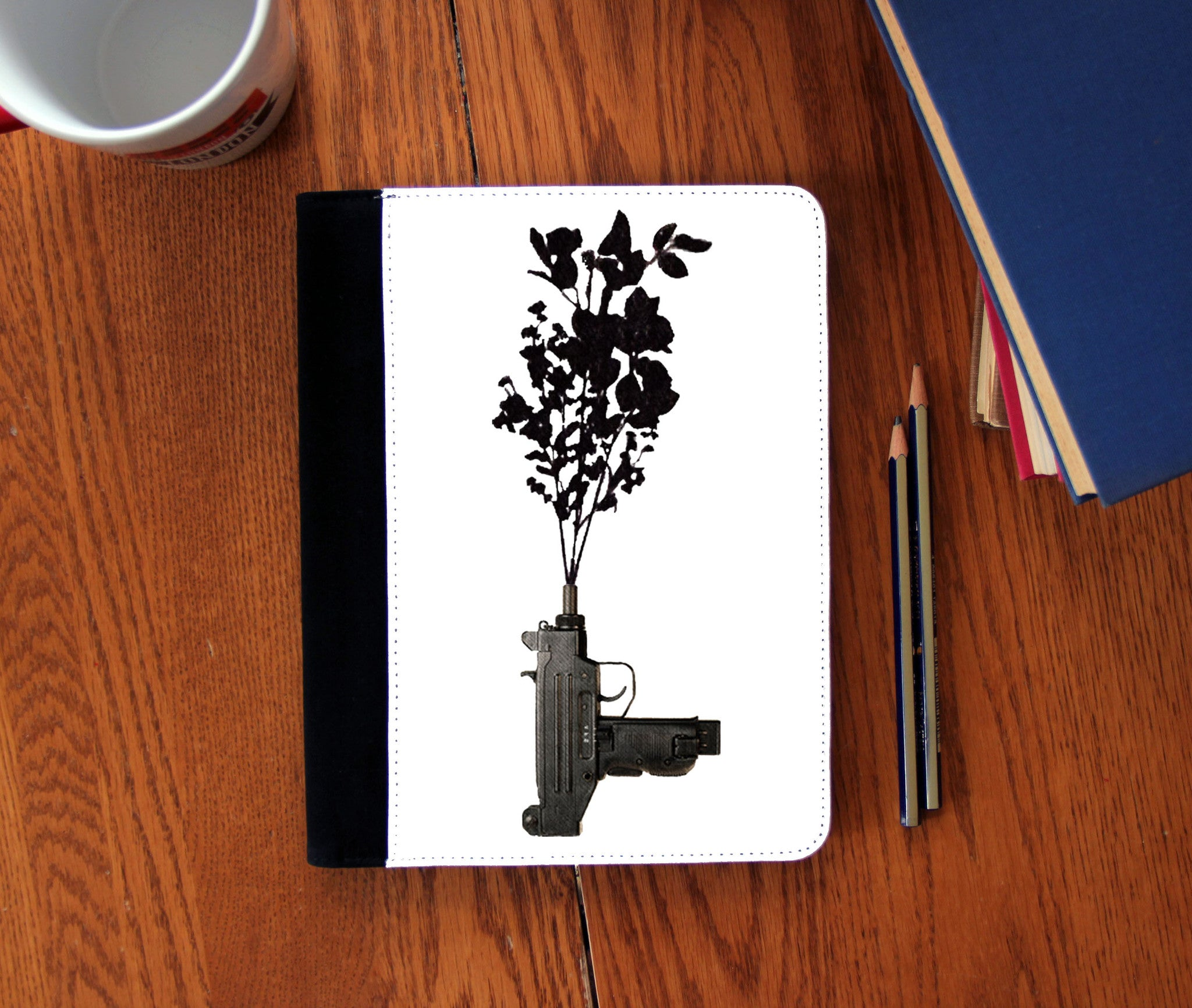 """Uzi Flower"" Faux Suede Notebook 3 Sizes! - Consulting Fangeeks - 1"