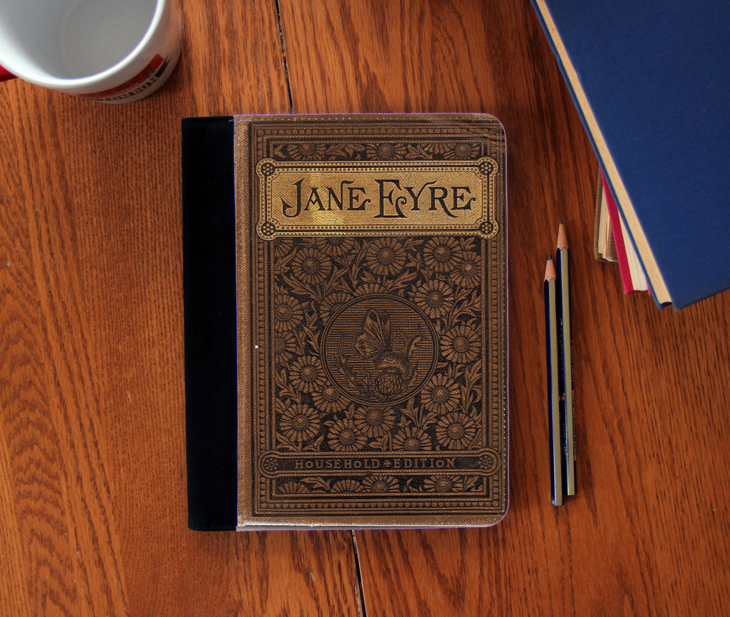 Jane Eyre Book Cover Faux Suede Notebook 3 Sizes!