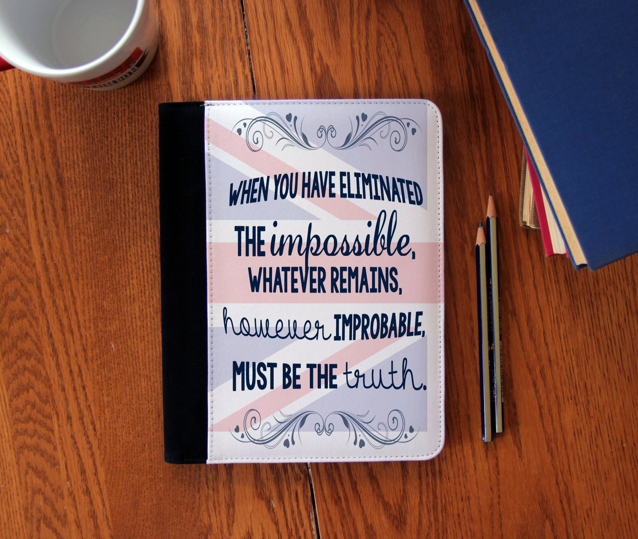 """The Impossible"" Faux Suede Notebook 3 Sizes! - Consulting Fangeeks - 1"