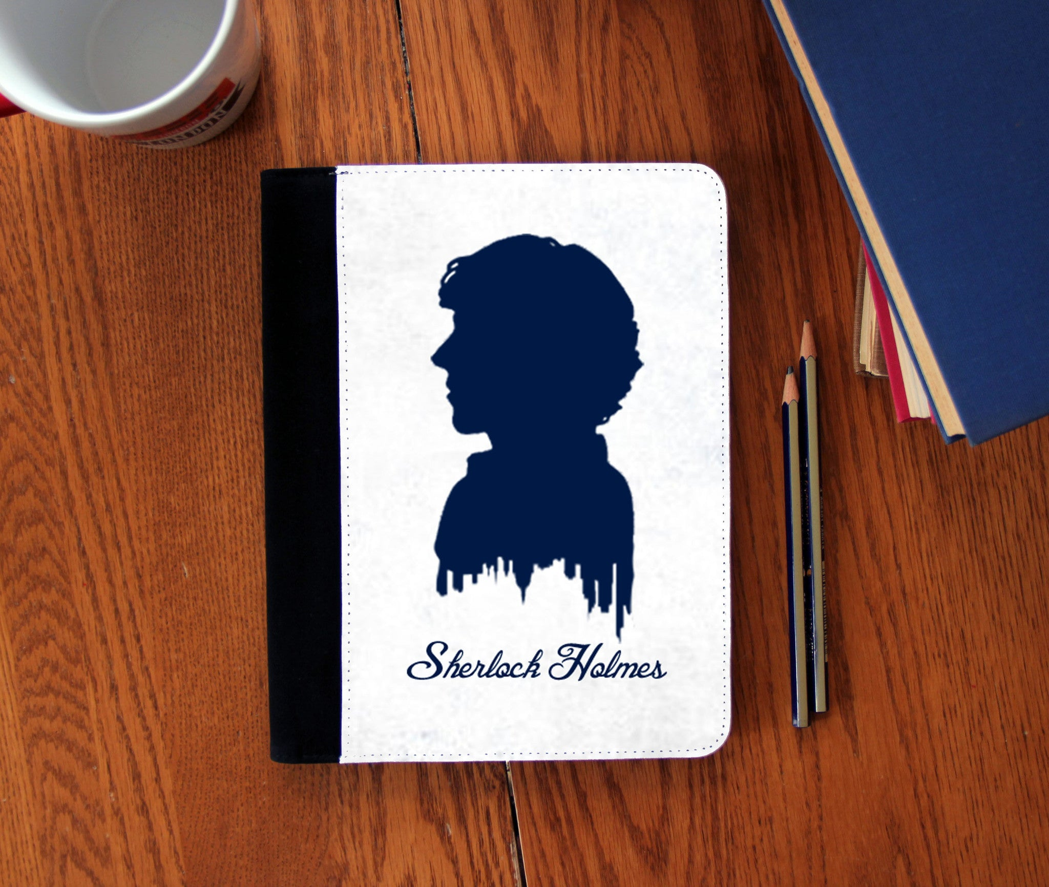 """Sherlock's Silhouette"" Faux Suede Notebook 3 Sizes! - Consulting Fangeeks - 1"