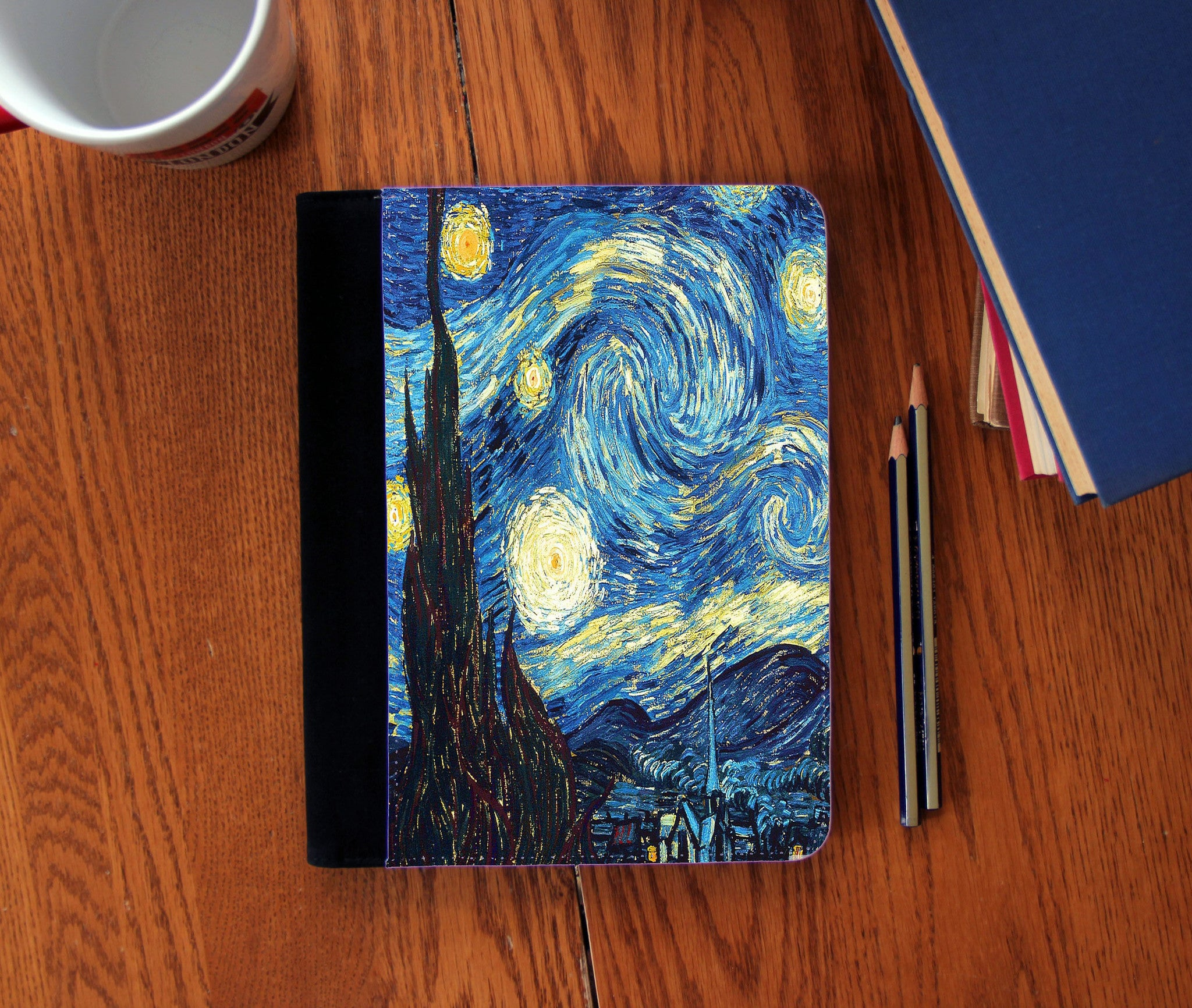 """Starry Night"" Vincent Van Gogh Faux Suede Notebook 3 Sizes! - Consulting Fangeeks - 1"