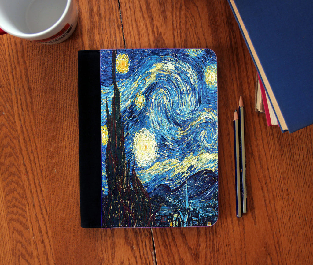 """Starry Night"" Vincent Van Gogh Faux Suede Notebook 3 Sizes!"