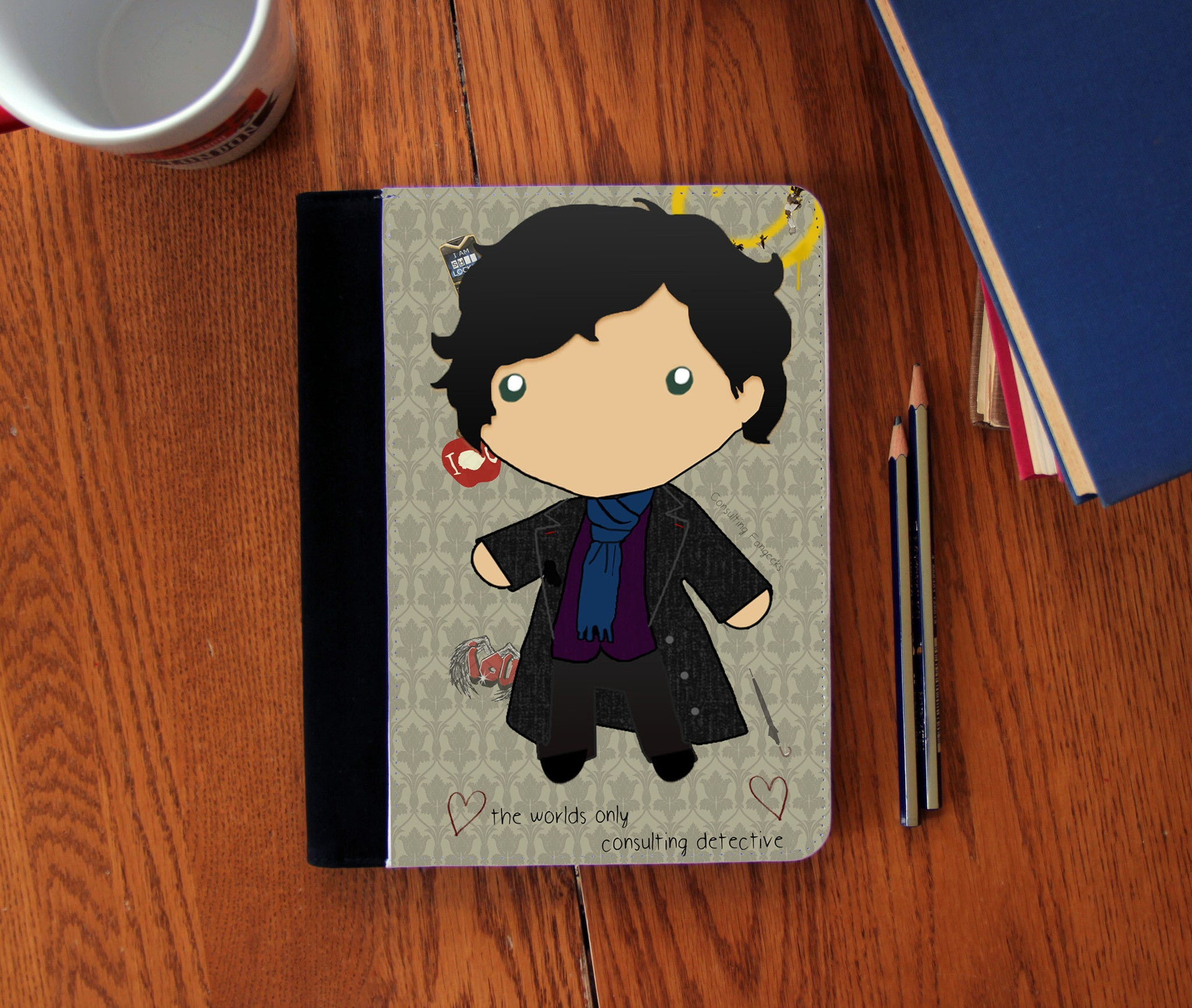 """Baby Sherlock"" Faux Suede Notebook 3 Sizes! - Consulting Fangeeks - 1"