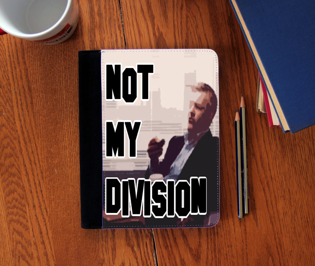 """Not My Division"" Faux Suede Notebook 3 Sizes!"