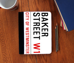 """Baker Street"" Faux Suede Notebook 3 Sizes! - Consulting Fangeeks - 1"