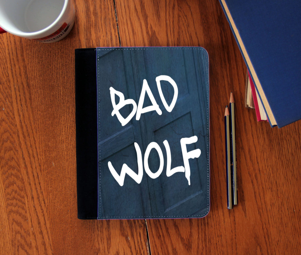 """Bad Wolf"" Faux Suede Notebook 3 Sizes!"