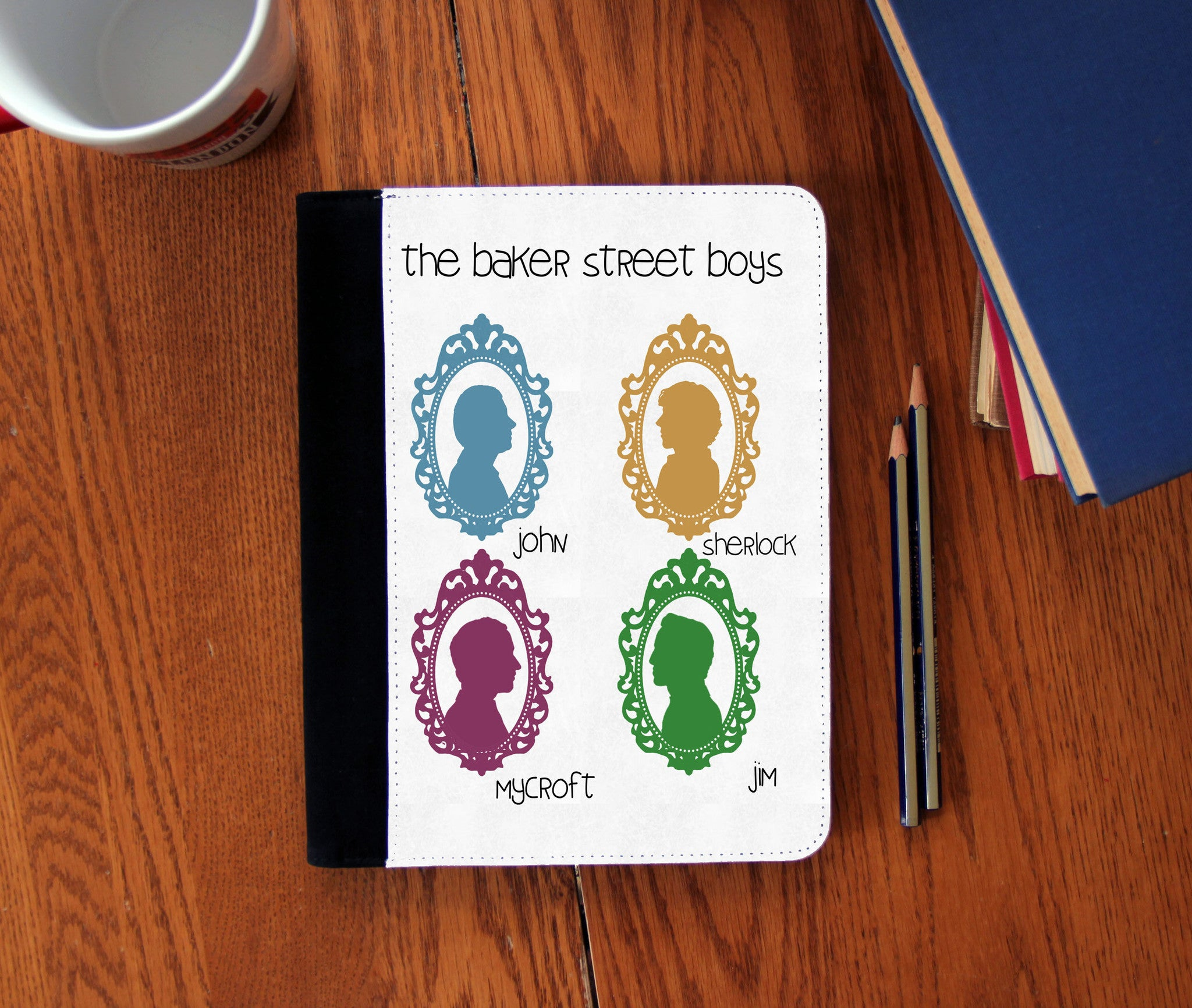 """Baker Street Boys"" Faux Suede Notebook 3 Sizes! - Consulting Fangeeks - 1"