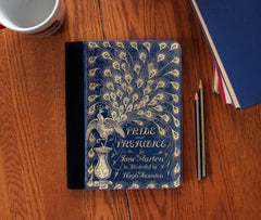 Pride and Prejudice Book Cover Faux Suede Notebook 3 Sizes! - Consulting Fangeeks - 1