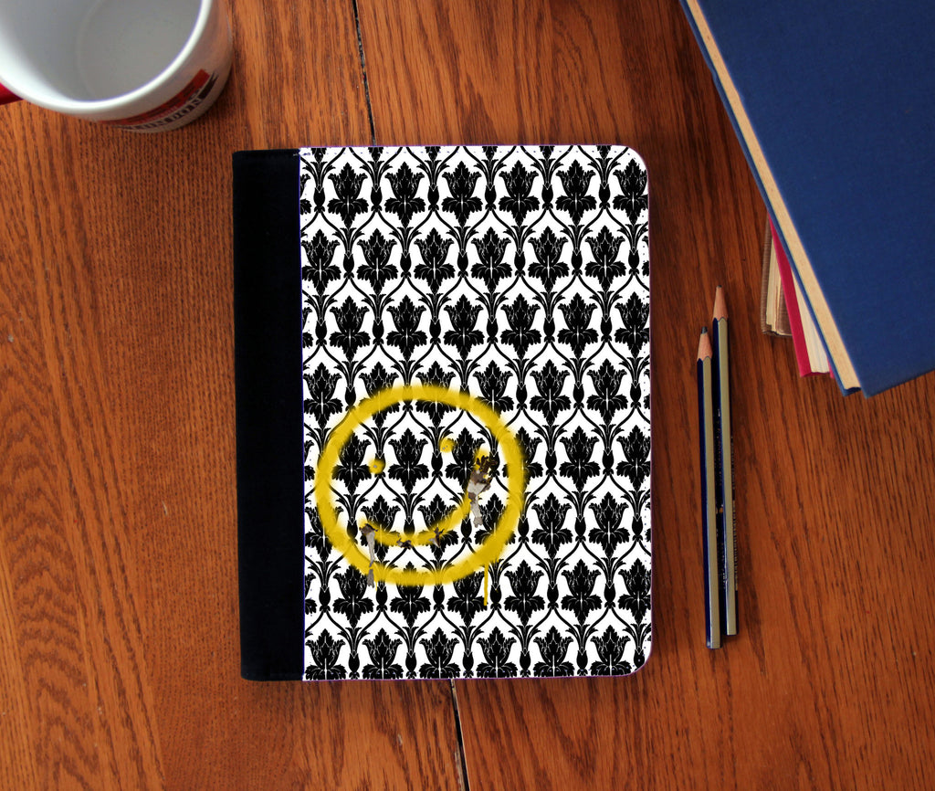 """Bored! Smiley"" Faux Suede Notebook 3 Sizes!"