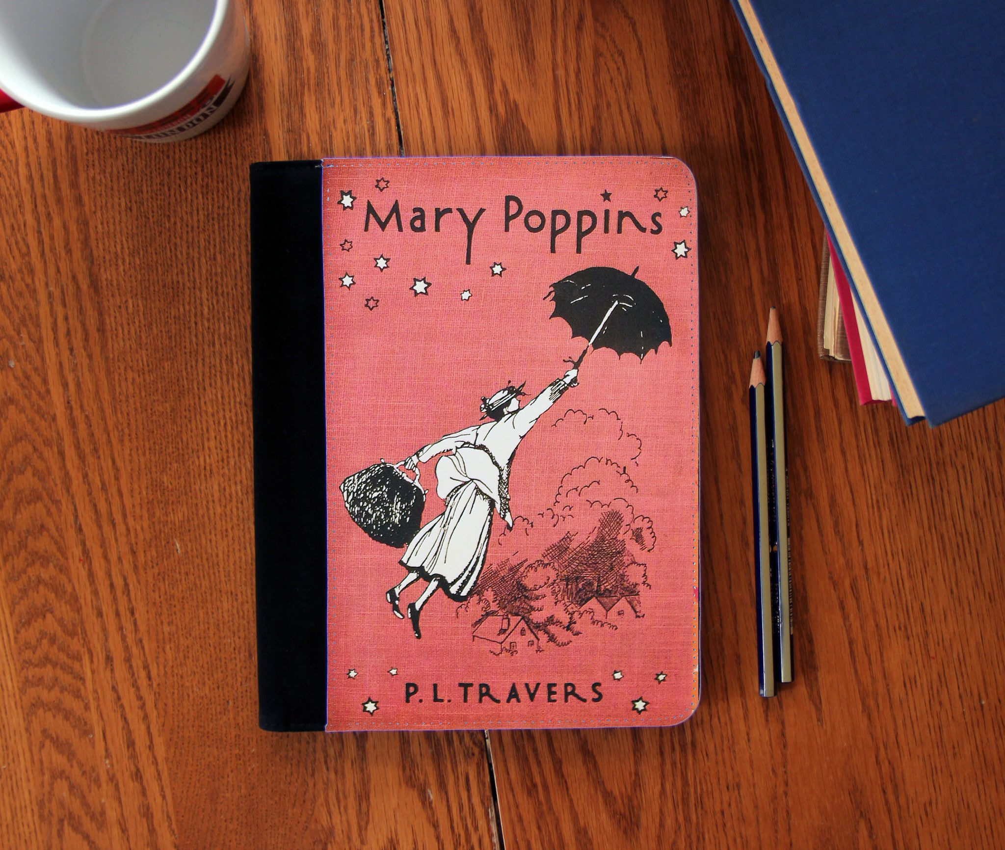 Mary Poppins Book Cover Faux Suede Notebook 3 Sizes! - Consulting Fangeeks - 1