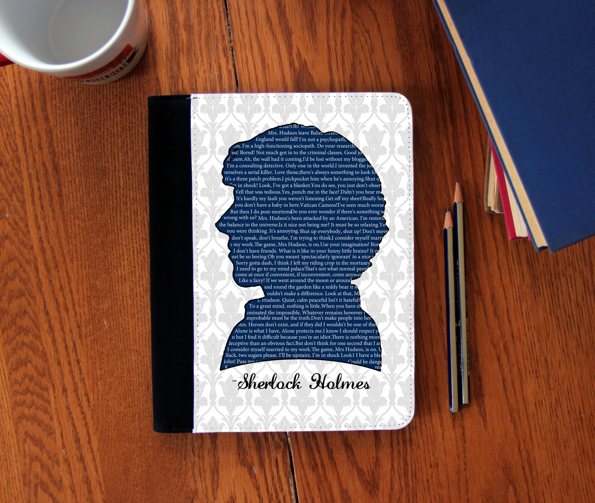 """Sherlock Quotes"" Faux Suede Notebook 3 Sizes! - Consulting Fangeeks - 1"