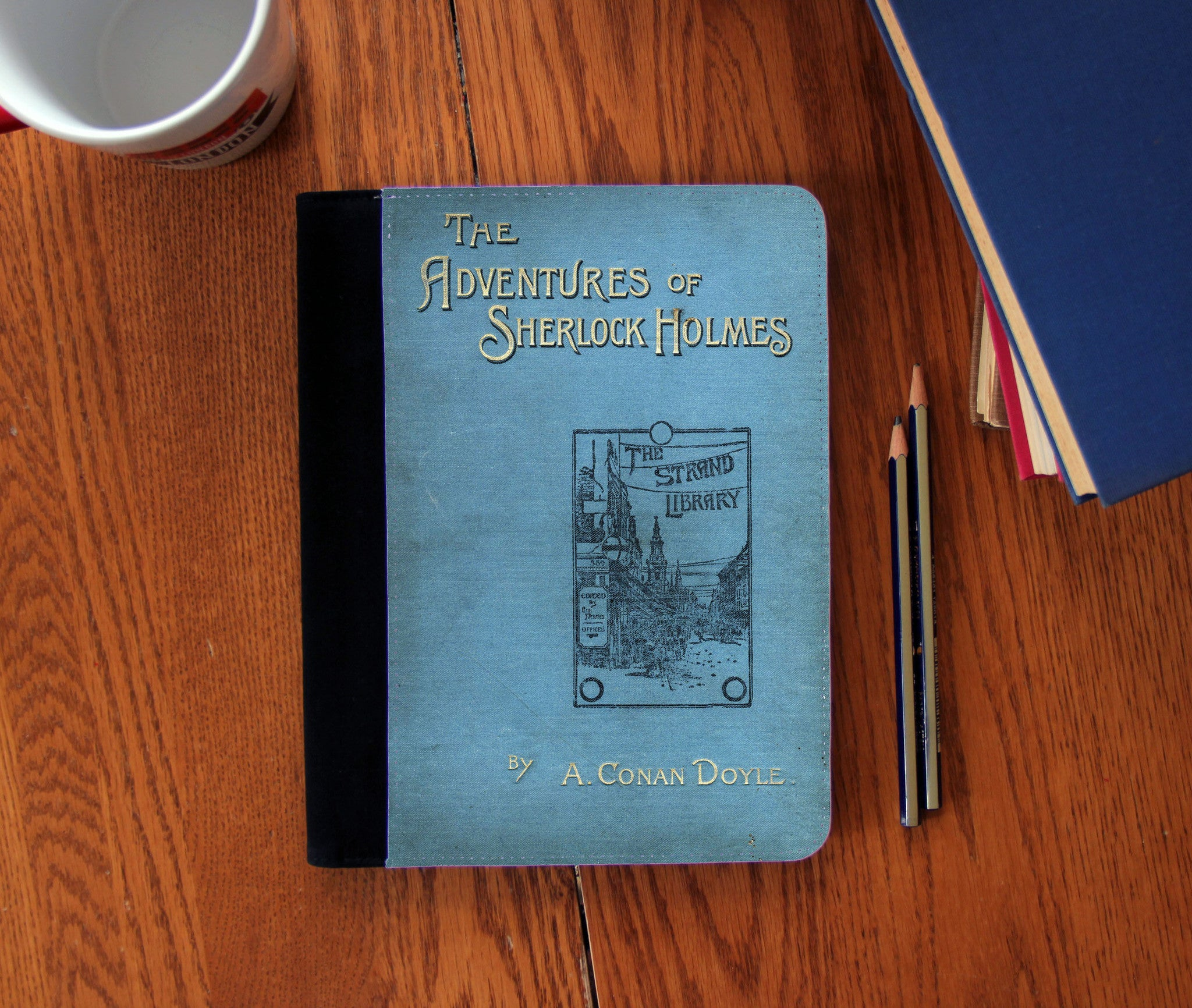 Adventures of Sherlock Holmes Book Cover Faux Suede Notebook 3 Sizes! - Consulting Fangeeks - 1