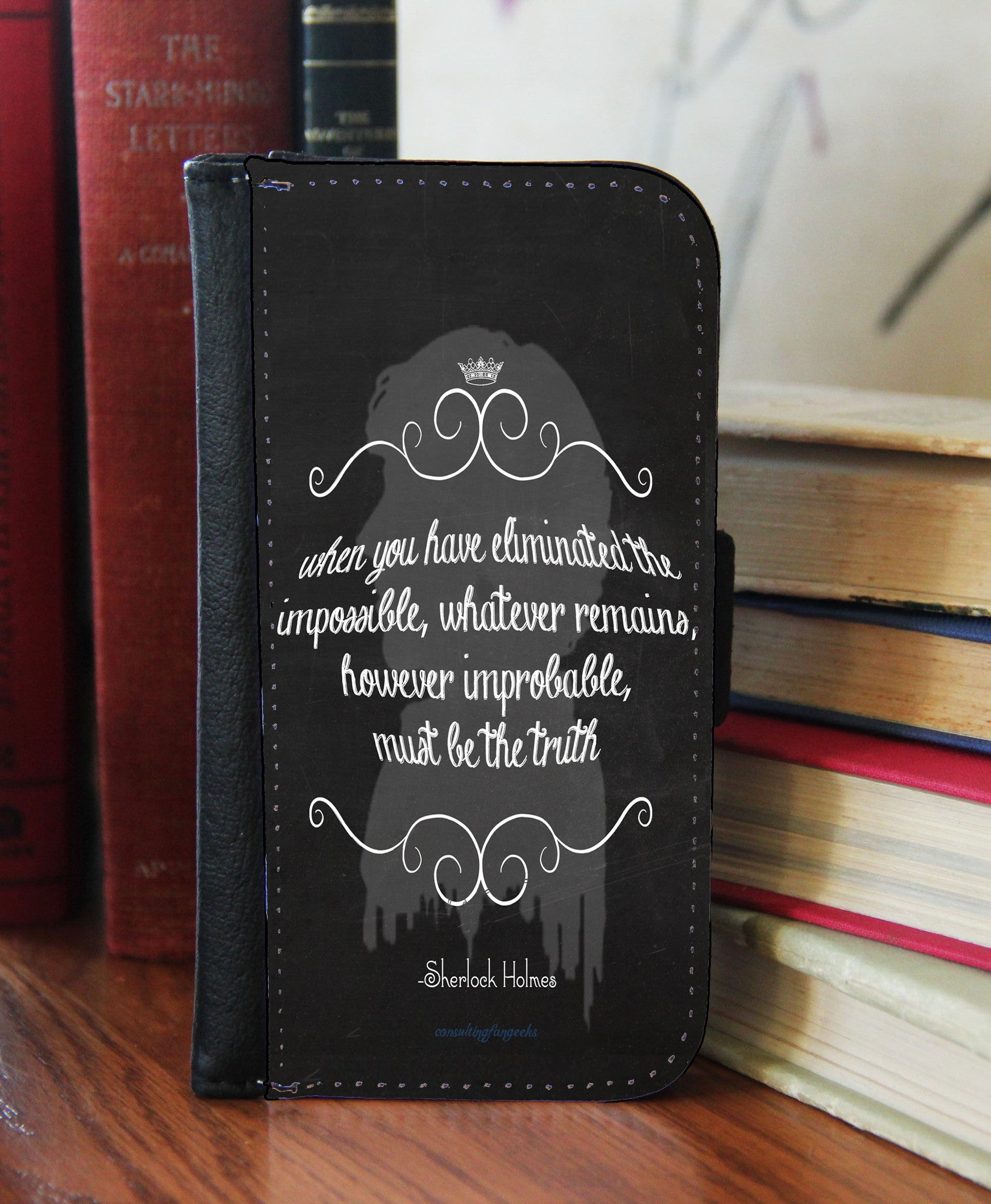 """The Impossible"" Chalk Board 2in1 Phone Wallet - Consulting Fangeeks - 1"