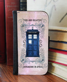"""Grunge Police Box""  2in1 Phone Wallet - Consulting Fangeeks - 1"