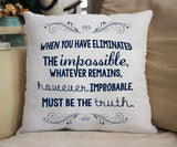 """The Impossible"" 14x14 Pillow - Consulting Fangeeks"