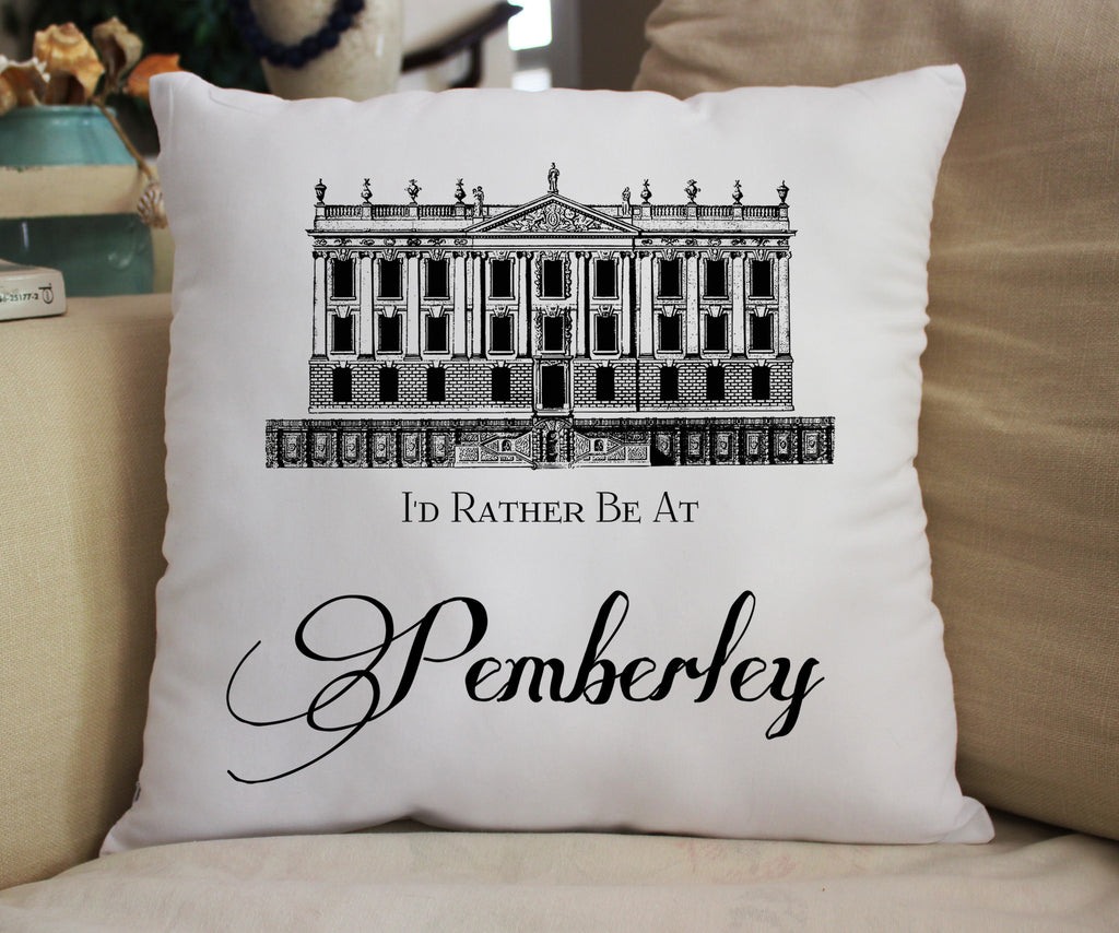 I'd Rather Be at Pemberley Fanpillow 14""