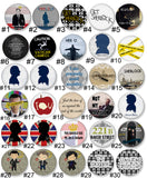 Sherlock Themed Pinback Buttons - Consulting Fangeeks - 2