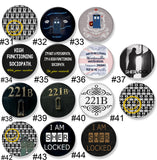 Sherlock Themed Pinback Buttons - Consulting Fangeeks - 3