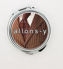 """Allons-y!"" Foldable Hand Mirror - Consulting Fangeeks - 1"